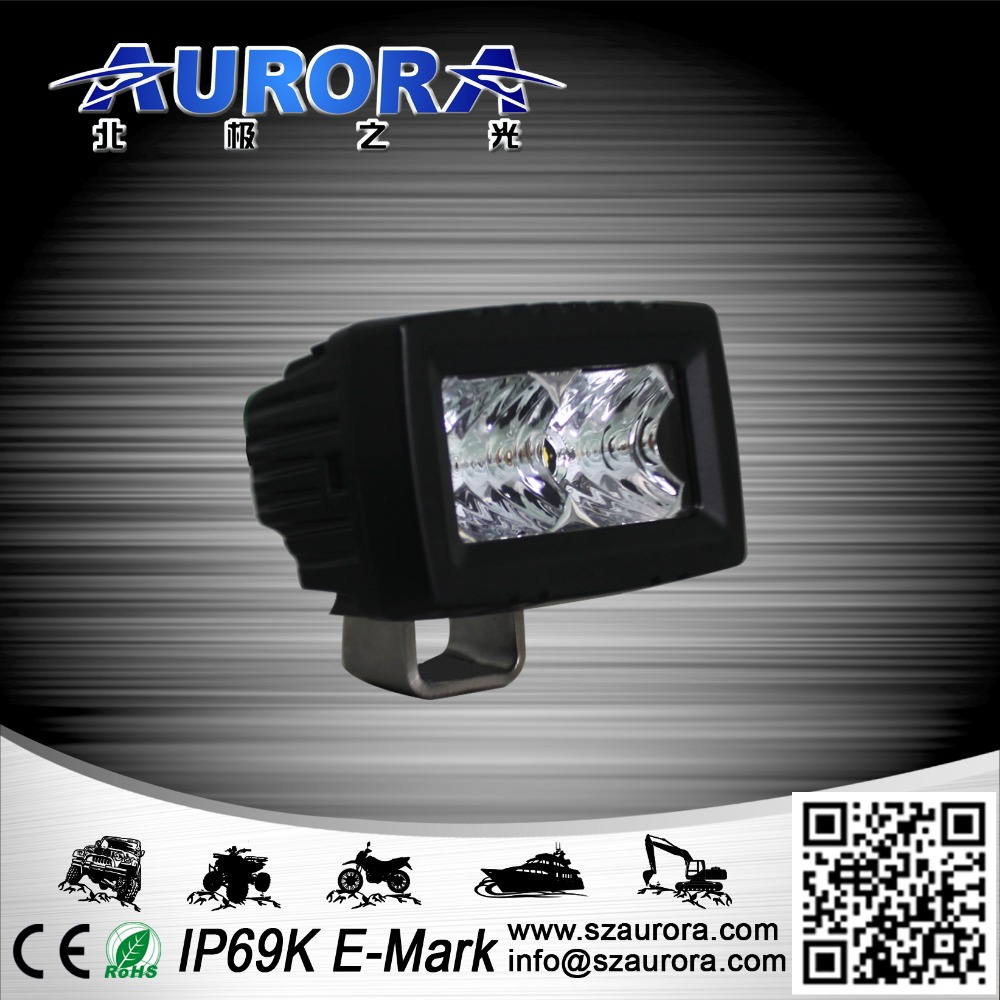Aurora IP69K 2inch 10W single rowled off road auto led driving lights