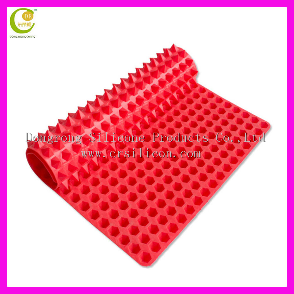 Wholesales New Arrival Non Stick Silicone Cooking Mat Fat Reducing Oven Baking Tray Sheet