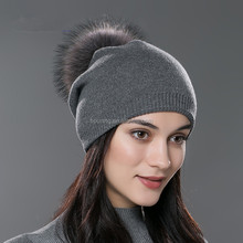 2017 new style fur ball knit patterns cashmere hat autumn/winter warm colorul fashionable lady hat
