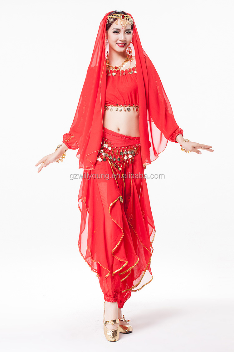 2015 Professional Belly Dance Cheap Indian Costumes Arabic Dancing Suits 7pcs/unit