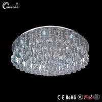 european silver villa ceiling light, clear crystal light