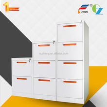 Bright white high gloss small drawer file cabinet metal cabinet