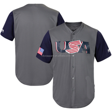 Cheap custom high quality sublimation baseball jerseys / baseball shirts for sale