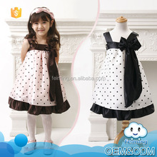 Korean style new fashion kids fairy polka dot evening party wear latest designs flower girl dress patterns for 2-7 years