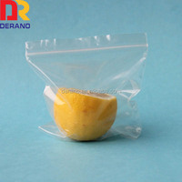 LDPE clear small zipper bag mini plastic cloth zipper bag