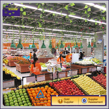 Supermarket equipment/fruit rack display shelf/supermarket shelving
