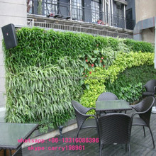 Q011303 plastic leaf fence garden decoration outdoor UV artificial green wall