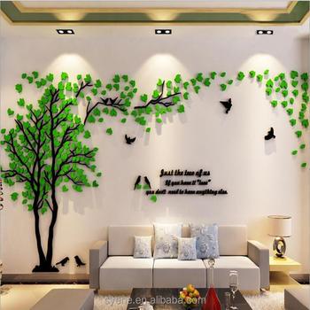 XL 3d three-dimensional crystal tree wall stickers/acrylic flower ...