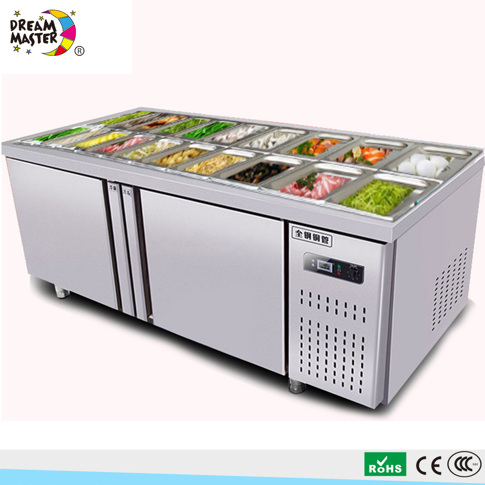 Chest Type Undercounter Countertop Salad Refrigerator