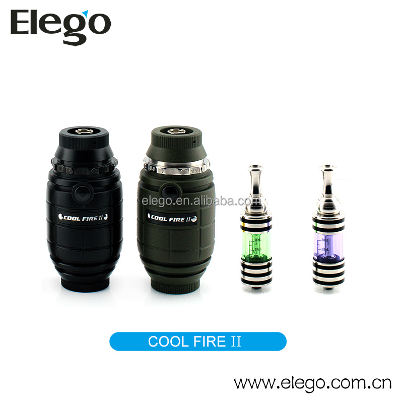 Unique battery shape design innokin Cool Fire 2 with iclear 30B clearomizer Cool fire II max vapor