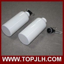 white bottle Logo customized Cap Stainless Steel Canteen