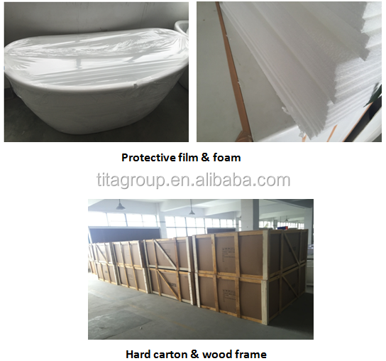 Cheap small freestanding used bathtub(TCB043D)