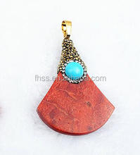fashion coral pendant,fan shape,natural coral pendant for jewelry FXb1009