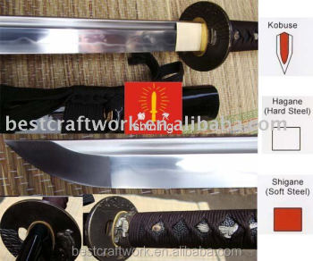 Handmade Kobuse Katana Sword With Clay Tempered Hamon Drop Shipping