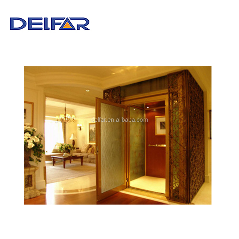 Small villa lift for home use with best price from Delfar