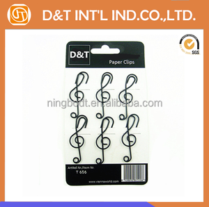 Promotion gift musical note shaped paper clips