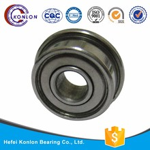 stainless steel F681 flange bearing, Low moq double flange bearing