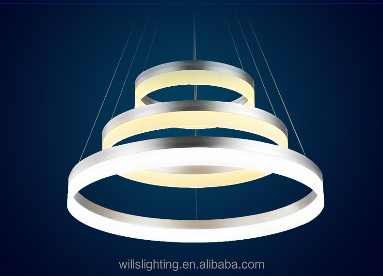 E27 Commercial Round Acrylic Decorative Chandeliers