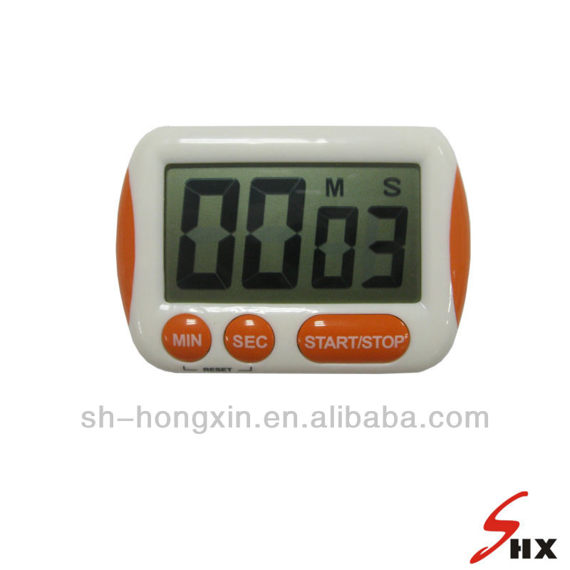 Super large LCD electronic household timer with stand and magnet
