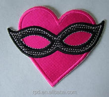 Garment accessory customized heart embroidery patches