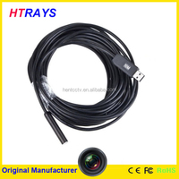 USB Cable Waterproof Drain Pipe Pipeline Plumb Inspection Snake LED Video Color Camera 10M