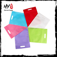 Plain nonwoven promotional shopping bag, small recycled non woven pouch, lamination nonwoven bag