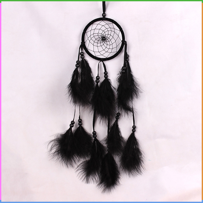 Black Feather Wall Hanging Decoration Wind Chime Tube Dream Catcher