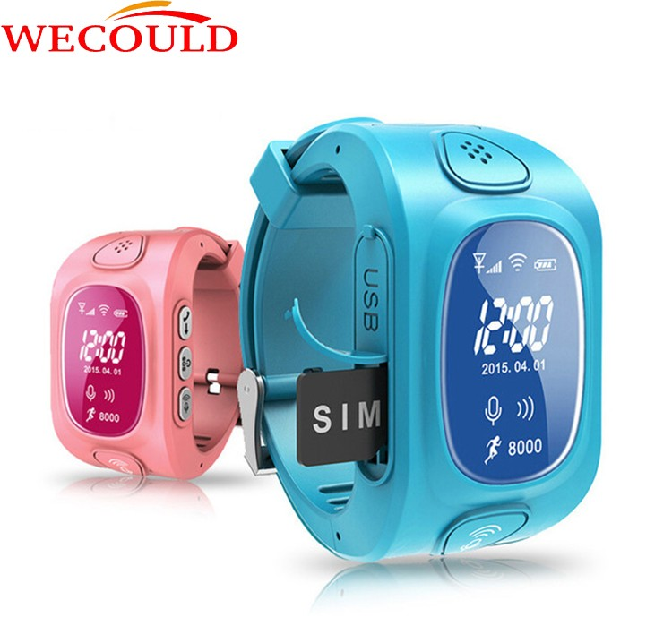 Wecould 2016 new fashion kids gps watch for smart phone