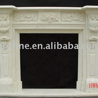 White Marble Fireplace Stove