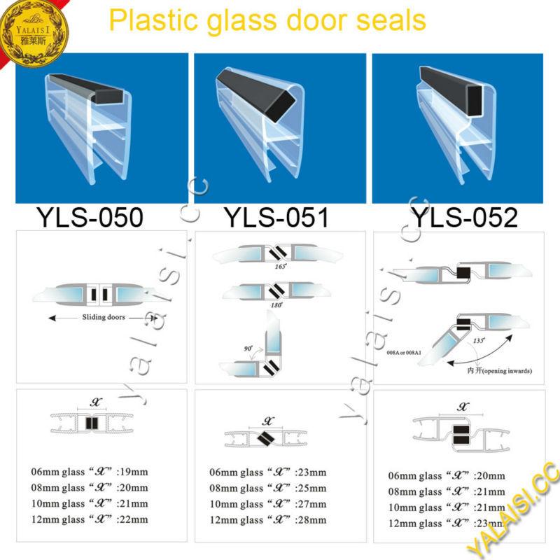 Translucent Plasitc Glass Door Lip Seals With Black Magnetic For Shower Room Hygiense Room Washing Room - Buy Door SealGlass SealMagnetic Seal Product on ...