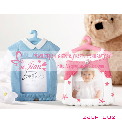 Lovely Baby Blue & Pink Cute Hanger Photo Frame Baby Shower photo frame giveaways for guest