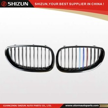 E60 M5 Body Kit 2004-2007 M-Color Glossy Black Front Bumper Kidney Grille For BMW 5 Series