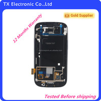 Accept paypal, wholesale original for samsung galaxy s3 i9300 lcd touch screen