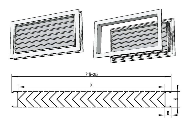 Ventilation Adjustable Air Vent Air Grille Bathroom Door Ventilation - Bathroom air ventilation