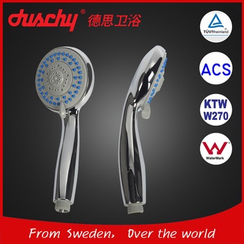 Hot sale duschy hand shower with KTW & W270, ACS, Watermark certification