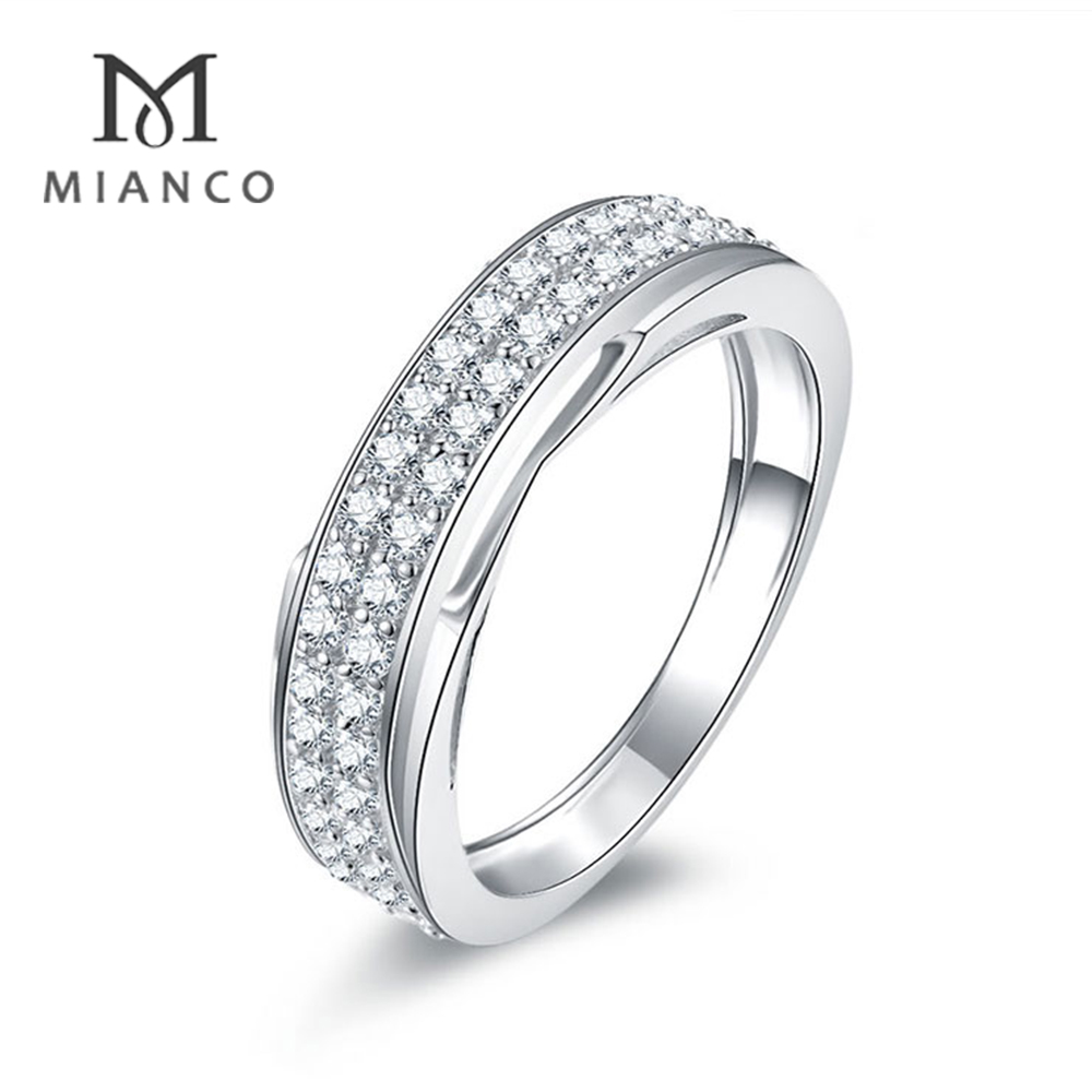 Mianco Wholesale factory women wedding 5925 silver jewelry fashion ring diamonds MR134S