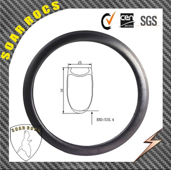 NEW arrival bicycle road U shape 25mm width G3 lace 18h/21h 700C carbon bicycle rim carbon rims 50mm clincher