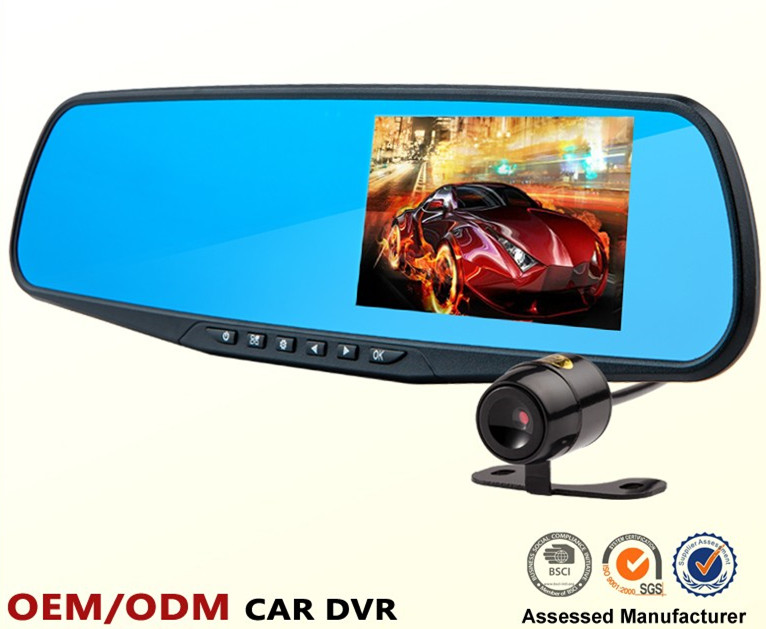 Factory supply 4.3inch car side mirror camera Best price high quality