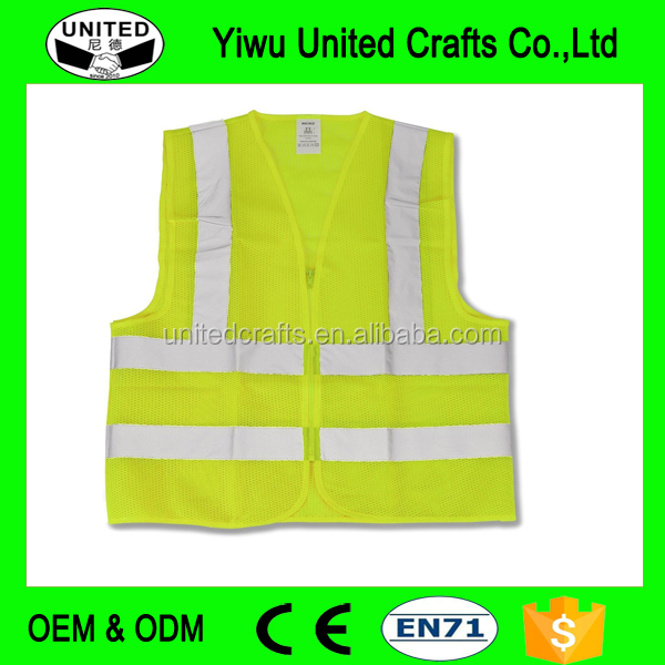 New Reflective High Visibility Safety Vest M, L, XL, XXL