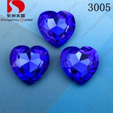 Heart Fancy Crystal Stones for Clothing Sew on with Claw Setting 4 Holes