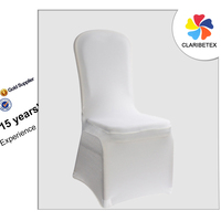 China Wholesale USD1.0 White Spandex Wedding Chair Cover