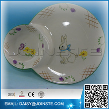 High quality certified Easter rabbit party dinner plate