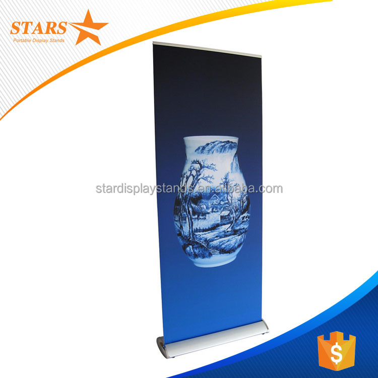 Digital Printing Retractable Banner Stand Wide Screen Roll Up Banner