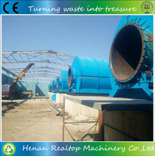 waste plastic to oil through pyrolysis machine