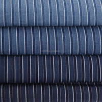 Indigo Yarn Dyed Striped Colorful Fabric For Garment