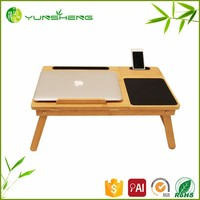 Waterproof Classic Bamboo Laptop Table