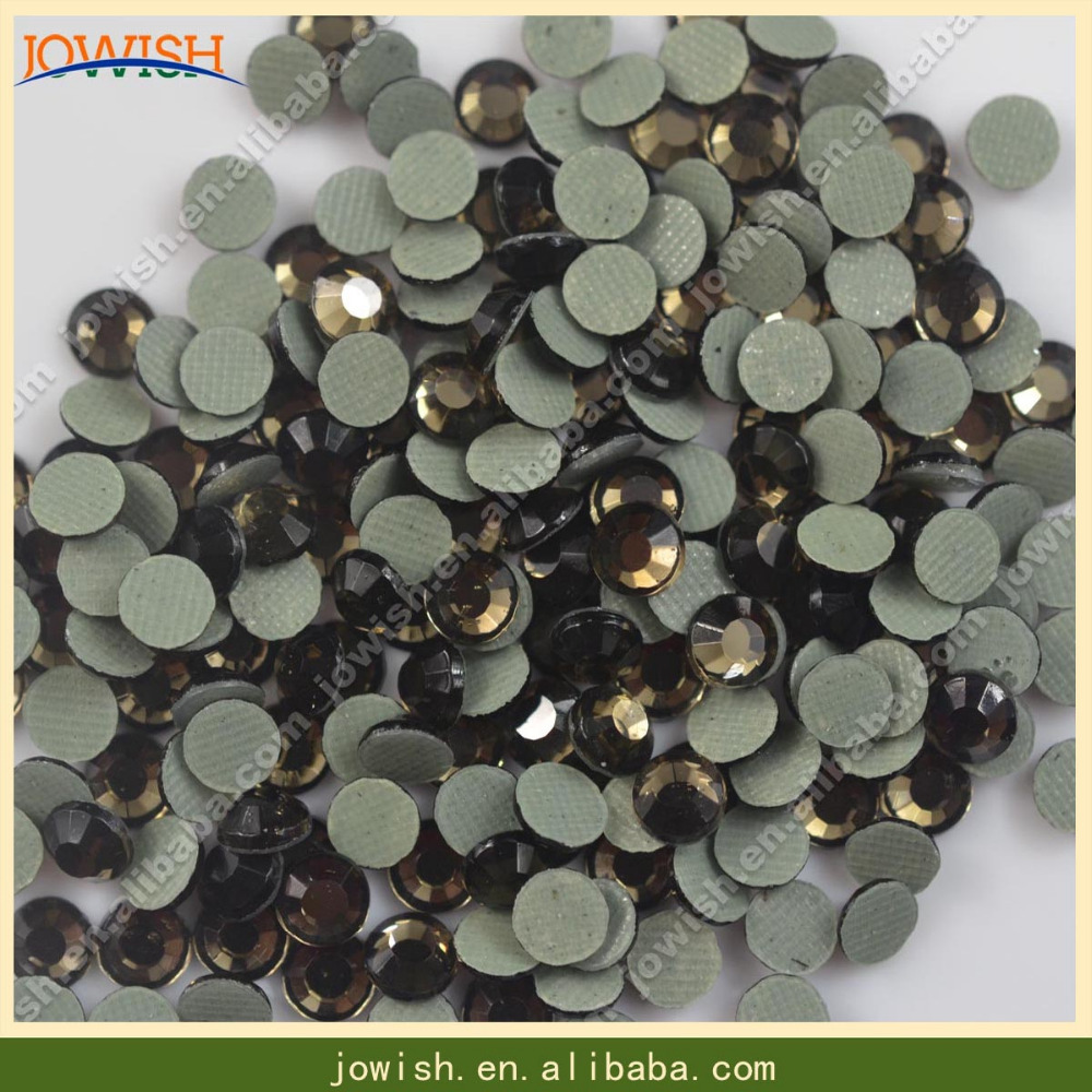 ss10 smoked topaz wholesale 500gross lower lead strass <strong>crystal</strong> for Jeans Fabric Rhinestone