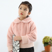2015 autumn South Korea soft materials girls coat child jackets new children girls coat and kids Sweater autumn child clothes