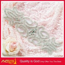 Wing Applique 1 Piece Sash/Headbands/Wedding Bridal fashion shinny crystal beads scheme