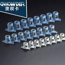 8T16 brass round terminal block 230-450v grey blue white 8 pole